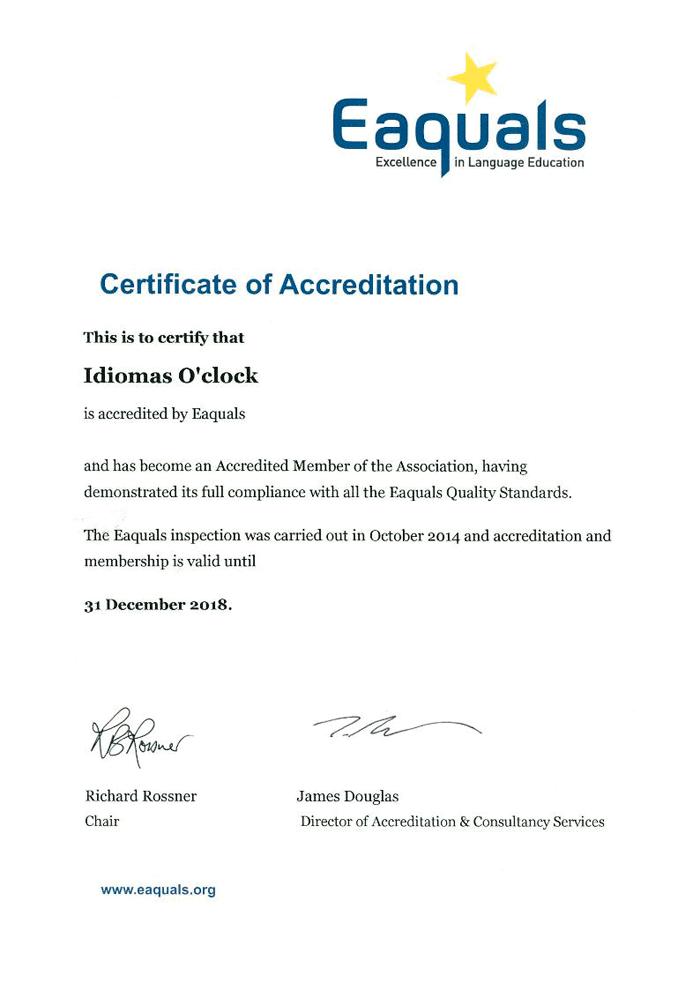 Certification of Acreditation Cambridge