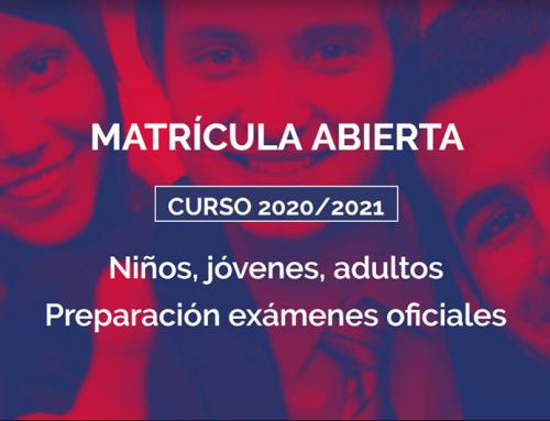 Matrícula abierta curso 2020/2021